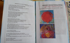 Copies of my writings and photos of paintings for my online courses.