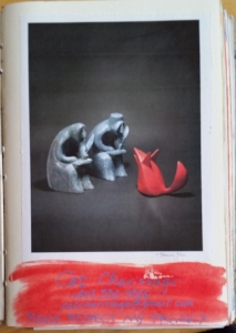 First page of my journal, with artwork by Shaun Tan