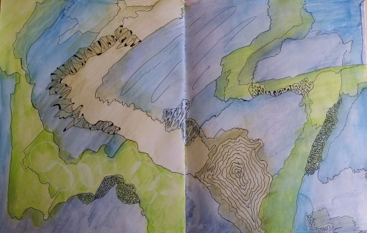 Watercolor Map Mar.17